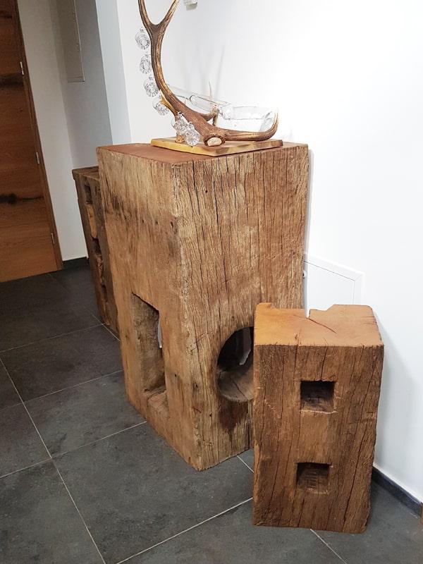 Alte Holzbalken dekorativ