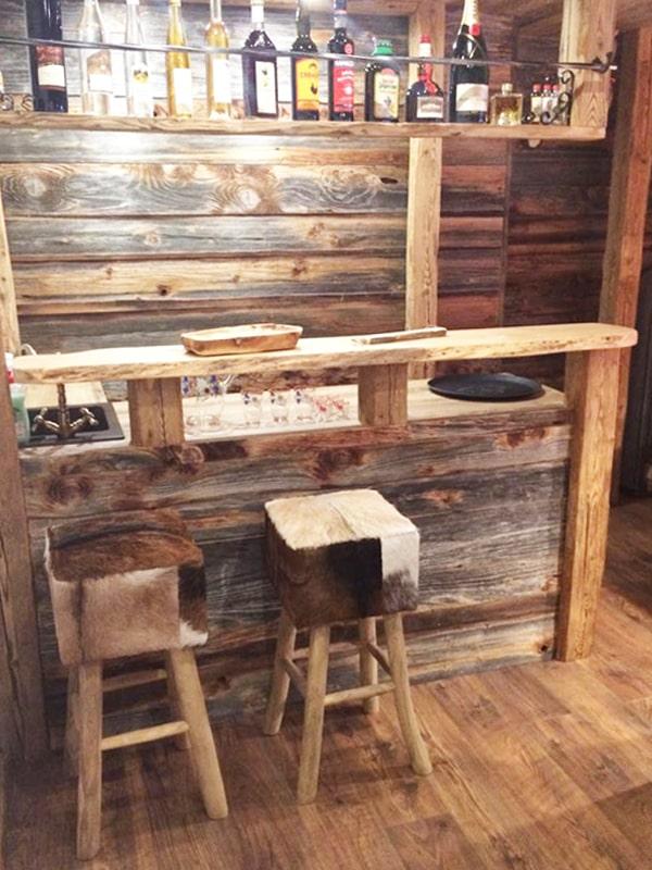 Bar Tisch Stuhl Altholz