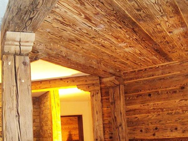 Deckenverkleidung Altholz Balken