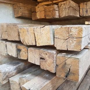 Holzbalken alt Eiche